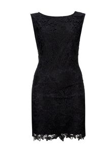 Wallis Black Crochet Lace Dress