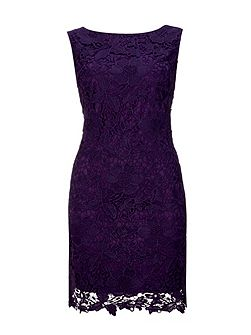 Purple Crochet Lace Dress