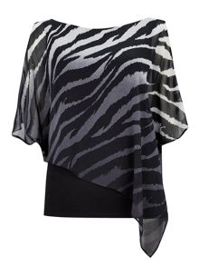 Wallis Animal Print Overlayer Top