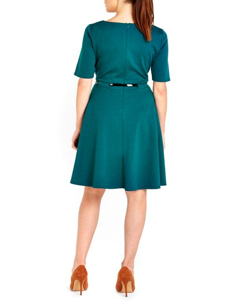 Wallis Belted Fit and Flare Dress