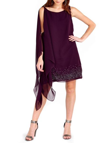 Wallis Purple Hotfix Detail Dress