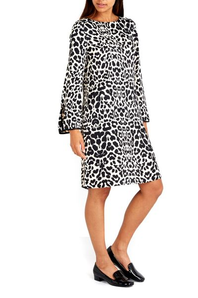 Wallis Black Animal Split Sleeve Dress