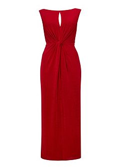 Red Knot Detail Maxi Dress