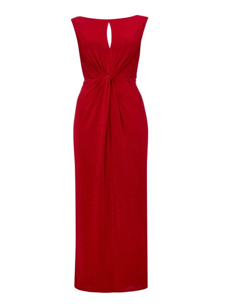 Wallis Red Knot Detail Maxi Dress