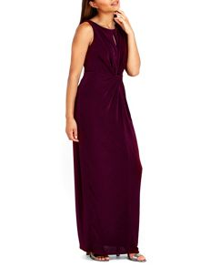 Wallis Purple Knot Detail Maxi Dress