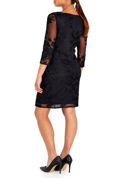 Wallis Embroidered Lace Dress