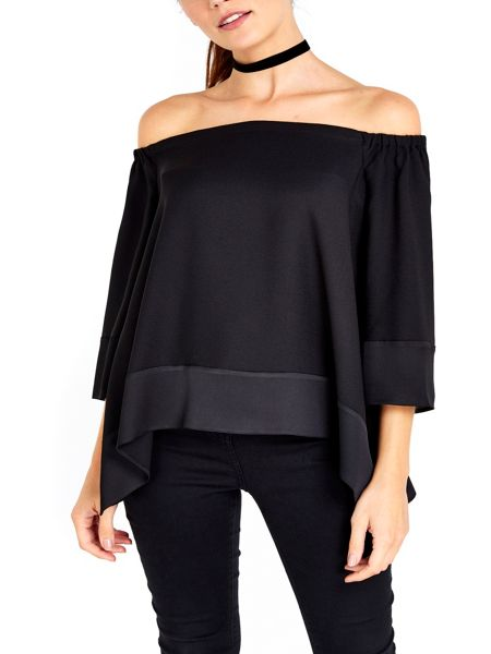 Wallis Satin Bardot Top