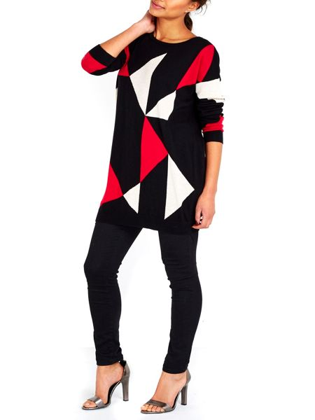 Wallis Black Triangle Tunic