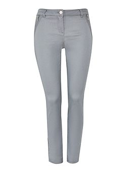 Grey Pintuck Detail Trouser