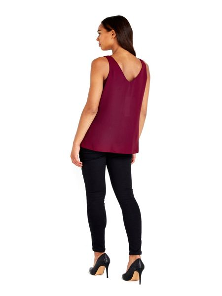 Wallis Berry V-Neck Camisole Top