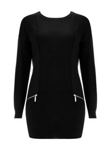 Wallis Black Zip Tunic