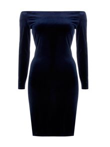 Wallis Velvet Bardot Dress