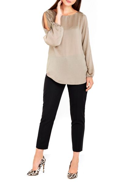 Wallis Mink Drape Top
