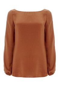 Wallis Orange Drape Top