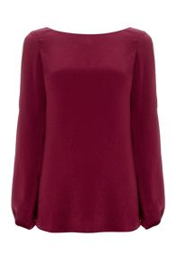 Wallis Wine Drape Top