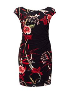 Wallis Trailing Oriental Wrap Dress