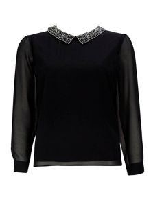 Wallis Petite Embellished Top