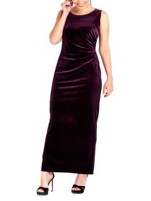 Wallis Purple Velvet Maxi Dress