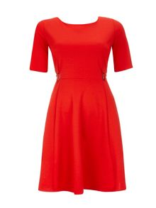 Wallis Ponte Buckle Fit and Flare Dress
