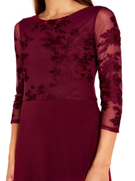 Wallis Embroidered Lace Maxi