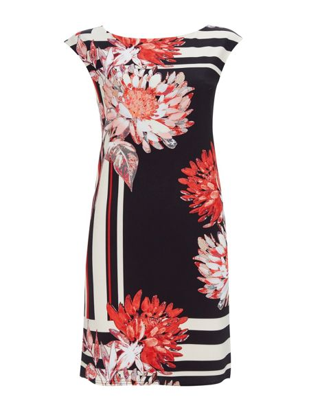 Wallis Floral Stripe Tunic Dress