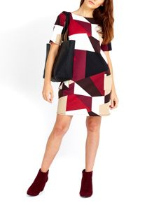 Wallis Geo Print Ponte Dress