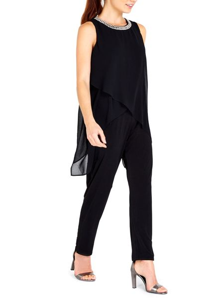 Wallis Embellished Neck Jumpsuit
