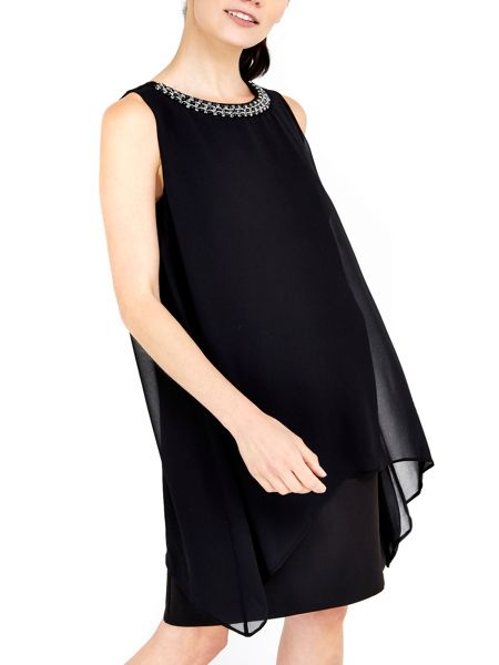 Wallis Black Embellish 2in1 Dress