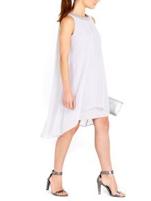 Wallis Grey Embellish 2in1 Dress