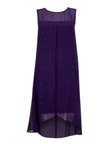 Wallis Petite Berry Split Dress