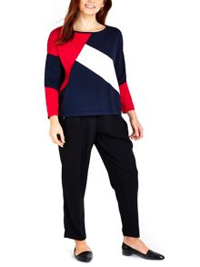 Wallis Navy Colourblock Jumper