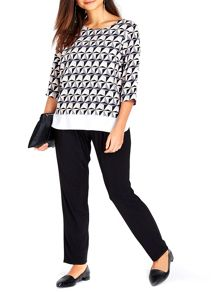 Wallis Petite Geo Double Layer Top