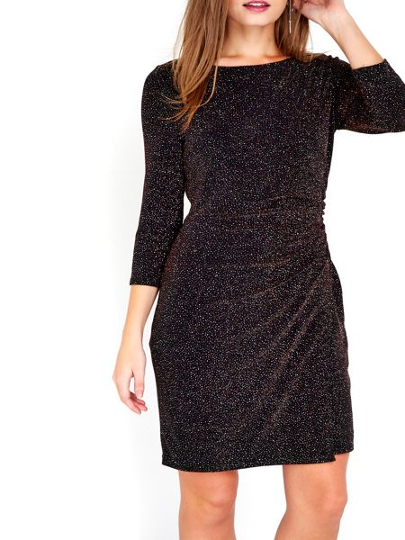 Wallis Petite Rose Gold Sparkle Dress