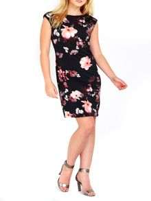 Wallis Floral Ruched Side Dress