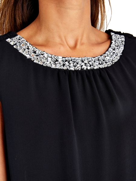 Wallis Embellished Tier Dress
