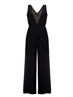 Black Hotfix Jumpsuit