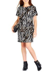Wallis Zebra Pocket Shift Dress