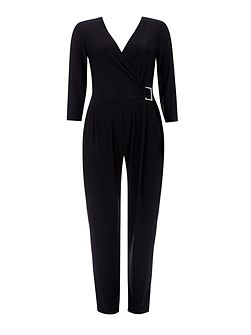 Wrap Top Buckle Jumpsuit
