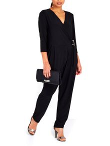 Wallis Wrap Top Buckle Jumpsuit