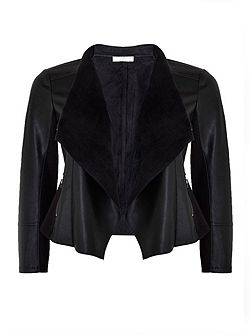 Petite Black Waterfall Jacket