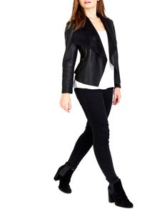 Wallis Petite Black Waterfall Jacket