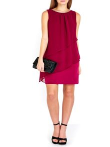 Wallis Petite Fuchsia Tiered Dress