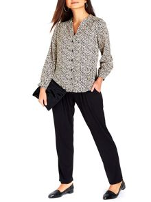 Wallis Petite Animal Print Shirt