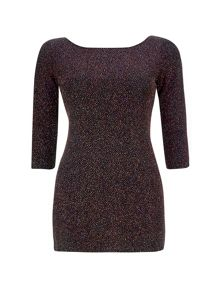 Wallis Petite Gold Sparkle Tunic