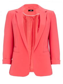 Wallis Coral Rib Shift Blazer