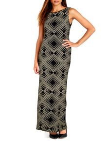 Wallis Gold Geo Sparkle Maxi Dress