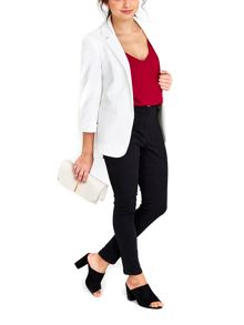 Wallis Ivory Ribbed Blazer