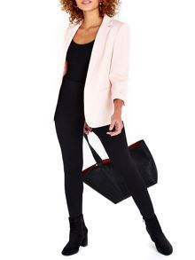 Wallis Blush Ribbed Blazer