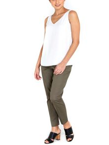 Wallis Khaki Belted Cigarette Trouser