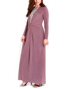 Wallis Mink Embellished Maxi Dress